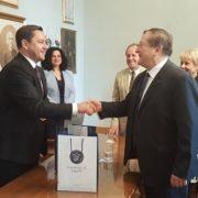 Dr. Andrija Mikulić kod rektora Borasa o početku Europskih sveučilišnih igara