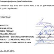 Opozicijske koalicije i stranke uputile Zahtjev DIP-u: Svi birači moraju se POTPISIVATI!