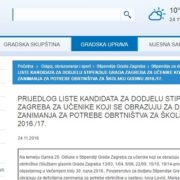 Utvđena lista kandidata za UČENIČKE STIPENDIJE Grada Zagreba, POGLEDAJTE LISTU