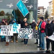 Stotine prosvjedovale pred veleposlanstvom zbog deložacije branitelja iz Zagreba