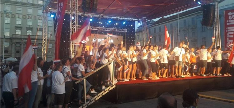 Na Trgu bana Jelačića, uz defile svih sudionika, svečano otvorene četvrte Hrvatske svjetske igre