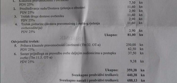 RASTE GROBNICA OVRŠNE MAFIJE Blokirani: Ovrhe samo sudovima, zabraniti pljačke za dug od 25 kuna!