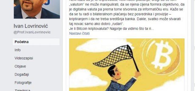 Lovrinović: ČUVAJTE SE BITCOINA, nove NAPUHANE VALUTE od koje će mnogi stradati!