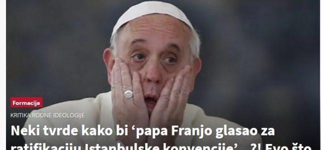 'Plenković i Maštruko OBMANJUJU javnost: Papa Franjo ŽESTOKI je PROTIVNIK teza ISTANBULSKE!'