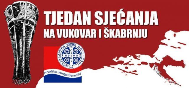 U Kaštelima, Splitu, Makarskoj, Trilju, Vukovaru…, počinje TJEDAN SJEĆANJA na Vukovar i Škarbnju