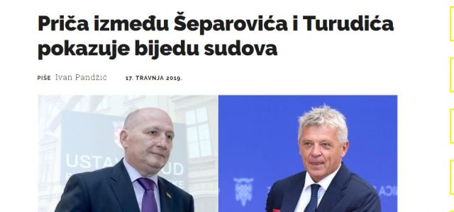 'Ono što su jedan o drugome rekli Šeparović i Turudić zorno pokazuje ZAŠTO GRAĐANI NE VJERUJU SUDSTVU'