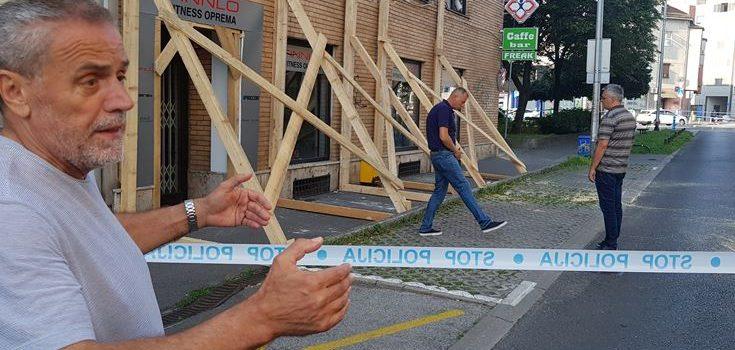 OPASNOST ZA PROLAZNIKE: Bandić obišao zgradu u Kranjčevićevoj kojoj je napuknula fasada