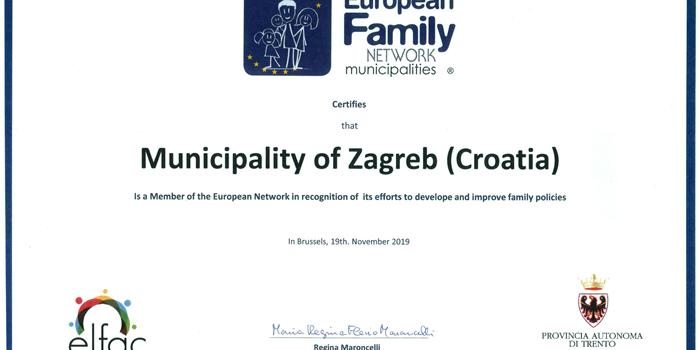 TEMELJ RAZVOJA: Zagreb u Bruxellesu dobio priznanje kao Grad PRIJATELJ VELIKIH OBITELJI