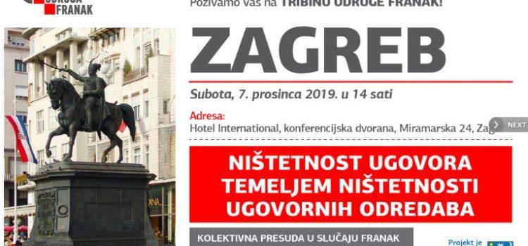 Tribina Udruge Franak o ništetnosti ugovora: bit će govora i o značaju presude Suda EU za hrvatske sudove