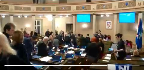 Izglasan zaključak o sklapanju ugovora i osnivanju Fonda za obnovu Grada Zagreba; oporba skeptična