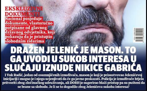 """Nacional: """"Državni odvjetnik je MASON, zakleo se da neće odati brata""""; A što ako je brat umiješan u kriminal?!"""