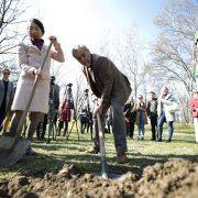 Veleposlanica Japana i Milan Bandić na Bundeku zasadili japanske trešnje i crvene javore