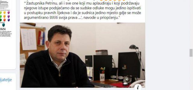 Petrina: Još vam nije jasno što je 'hrvatsko pravosuđe'? Nije vam jasno da država ne postoji, da je sve talog i mulj!