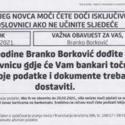 Borković: Institucije RH su suspendirane, a sve ovlasti predane u ruke banci koja pere novac!