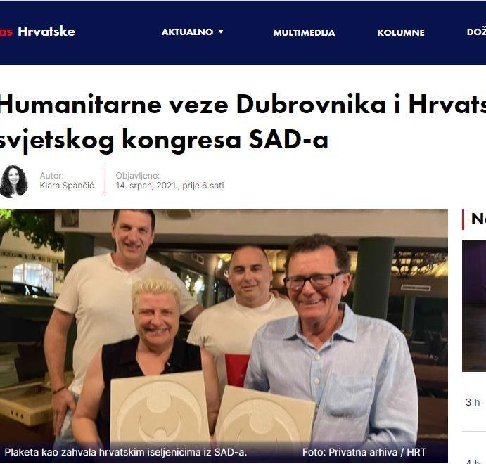 """""""Iz daleka se bolje osjeća i voli domovina pa se probudi posebna iskra patriotizma u iseljenoj Hrvatskoj"""""""
