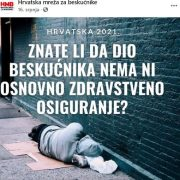 'Beskućnici umiru kao štakori jer NEMAJU ZDRAVSTVENO; za Vladu RH ti ljudi ni ne postoje!'