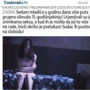 ZLOČIN nad djetetom: SINOVI MOĆNIKA godinu dana ju silovali, snimali, tukli i ucjenjivali; pušteni na slobodu?!